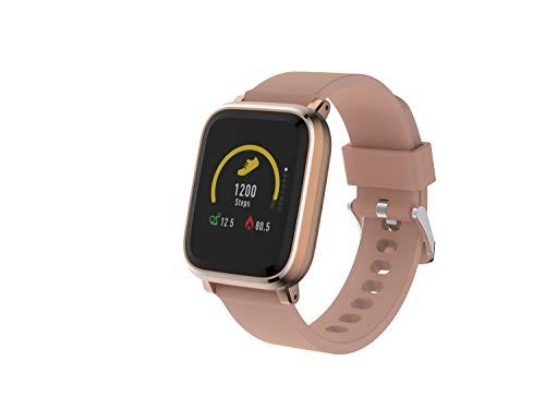 Denver Bluetooth-Smartwatch 'SW-160' mit Herzfrequenzmesser und Smart Wake-Up, Roségold