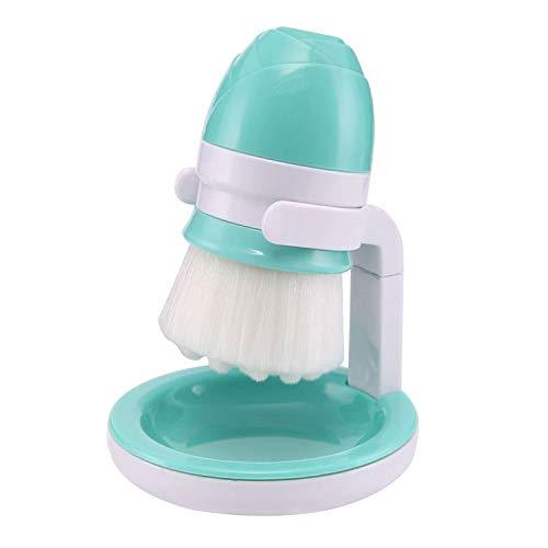 Portable manuel doux nettoyant de nettoyage du pinceau nettoyant avec support de rangement pour exfoliant visage peau Cleanig Care Blue