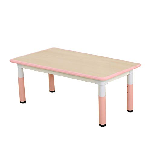 Preisvergleich Produktbild CHAXIA Kindertisch Stuhl Baby Kann Graffiti Spieltisch Rechteck Kunststoff Stetig rutschfest,  2 Farben,  3 Kombinationen (Color : Pink,  Size : A)