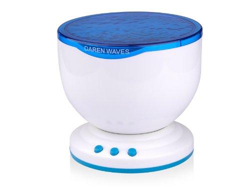 Preisvergleich Produktbild Romantische Ozean Sea Waves Daren Projektor MP3 iPhone Lautsprecher LED-Nachtlicht Lampe Ozean Welle Licht Projektor Beleuchtung Lautsprecher Projektion-Lampen Kinder Einschlafhilfe