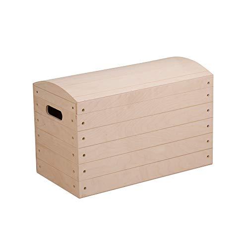 Duston - Grande scatola di legno con coperchio, 50 x 26 x 35,5 cm