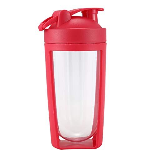 BKAUK 750Ml Poeder Shaker Eiwit Shaker Fles Grote Capaciteit Water Fles Outdoor Sport Drink Mixer Mijn Water Fles Rood