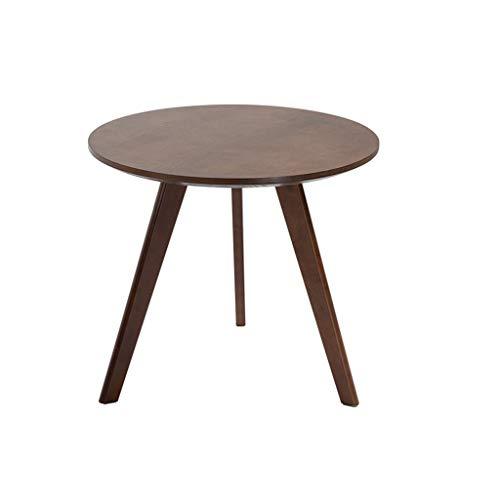 SZQ-Table Basse Retro Meubles, de Style Japonais en Bois Petite Ronde Table de Salle à thé Salon Balcon Multi-Fonction Taille de la Table Durable: 60 * 60CM Table de Sofa
