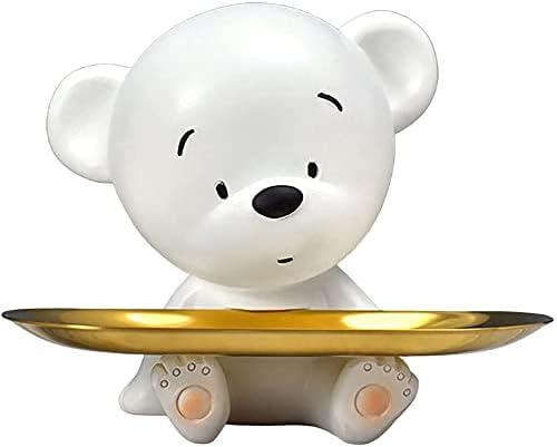Animal Figurine Storage Cheap sale Tray Bear Pla Statue Key Max 90% OFF Jewelry