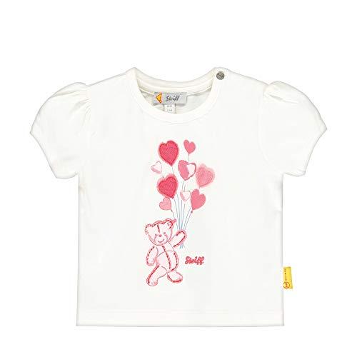 Steiff Baby-Mädchen mit Teddybärprint T-Shirt, Beige (Cloud Dancer 1001), 80 (Herstellergröße: 080)
