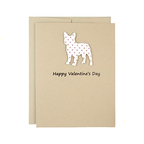 French Bulldog Valentines Day Greeting Card | Single or 10 Pack | Handmade Frenchie Valentine Cards | Choose Phrases