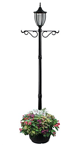 Sun-Ray 312066 Cresmont Solar Lamp Post and Planter with...
