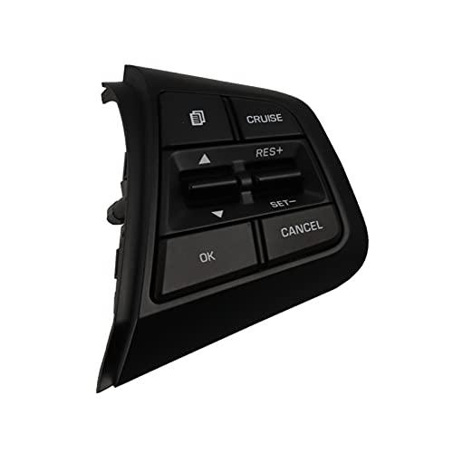 HONGYING LIUYU Botones del Interruptor de la Rueda del Volante en la Velocidad de Control de Crucero del Lado Derecho Ajuste para Hyundai Creta 2.0L Remote con luz Azul Reemplazar Parte automática