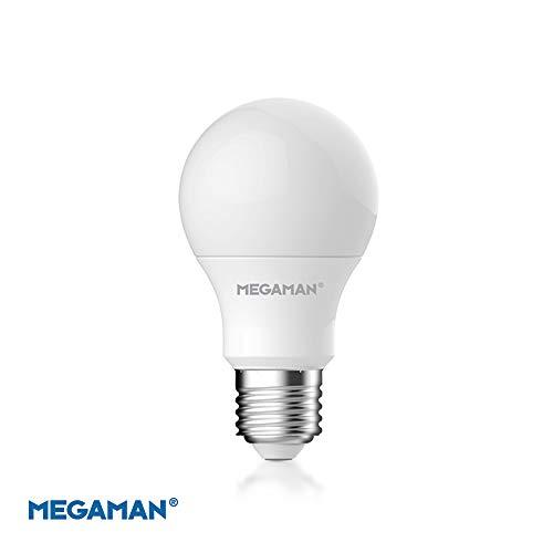 Megaman 142574 LED-Leuchtmittel, dimmbar, R9 GLS Style, klassische Opal-Lampe, E27, Edison-Schraube, 2800 K, Warmweiß, 9,5 W, 810 lm, A+ Bewertung, 25000 Stunden geschätzte Lebensdauer