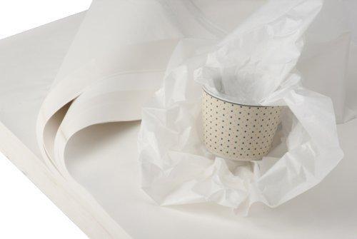 BB-Verpackungen weiße Juwelierseide, 2 kg, 50 x 75 cm, Farbe: weiß, holzfrei (ca. 180 Bögen) Packseide Seidenpapier Geschirrpapier