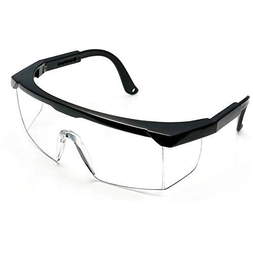 ゴーグル 保護メガネ 防塵ゴーグル 防護ゴーグル 安全メガネ 軽量 透明 防風ゴーグル 破片対応 アウトドア/作業用 一眼型 安全ゴーグル (MJPHM-1)