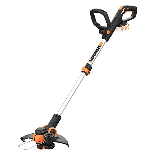 WORX WG163.9 20V Cordless Grass Trimmer/Edger with Command Feed, 12' TOOL ONLY,  battery and charger sold separately