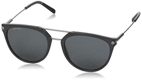 Bulgari 0Bv7029 531387 55 Gafas de Sol, Negro (Black/Grey), Unisex-Adulto