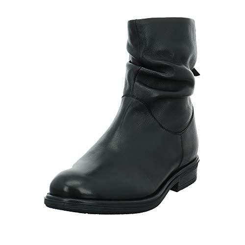 s.Oliver Damen Stiefeletten 25357-25, Frauen Stiefelette, leger Stiefel Boot halbstiefel damenstiefel Bootie gerafft weibliche,Black,38 EU / 5 UK