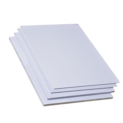 non-brand Tablero de Hojas de PVC Espumado para Construcción de Modelo DIY Bricolaje - 5 Piezas (200 x 300 x 3 mm)