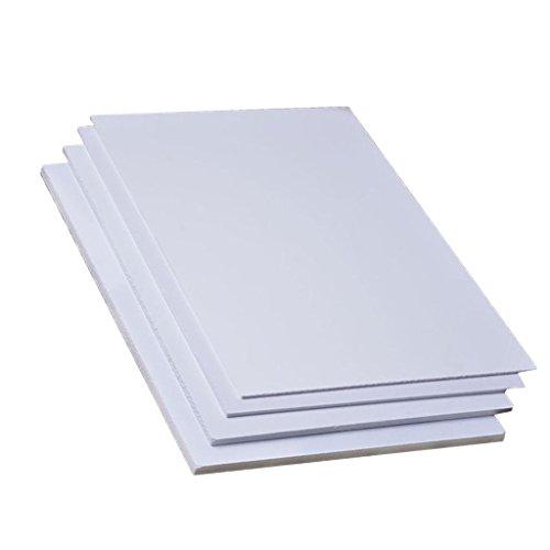 MagiDeal 2er-Set PVC Platten zum Modellbau Basteln, in verschiedenen Größen - 200 mm x 300 mm × 5 mm