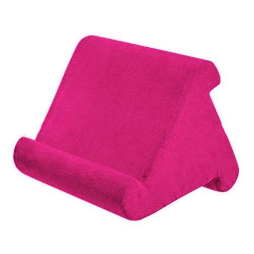 Tablet Kussen Houder Lap Stand Schuim Boek Rest Lezen Bed Ondersteuning Kussen roze