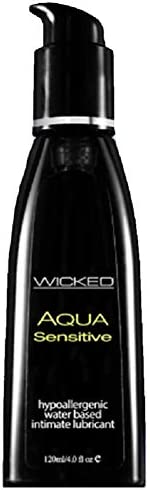 Wicked Aqua Sensitive Waterbased Hypoallergenic Unscented Lube 8oz product image