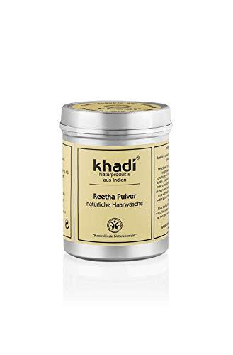 khadi Reetha Pulver 150g I Ayurvedisches Haar-Waschmittel I Bio Haar-Pflege aus Indien I sanfte Reinigung vor dem Haare färben I Naturkosmetik ohne künstliche Zusätze