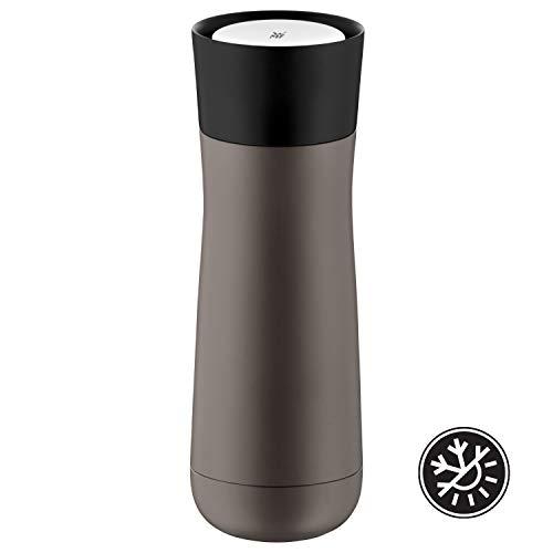 WMF Impulse Isolierbecher 350 ml, Thermobecher mit Automatikverschluss, 360°-Trinköffnung, hält Getränke 1-2h warm/kalt, taupe