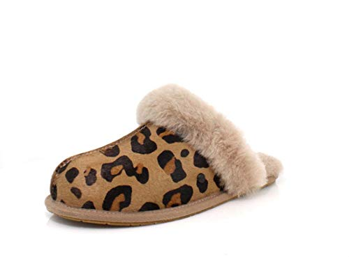 UGG Damen W Scuffette II Leopard Pantoffeln, Mehrfarbig (Amphora Amp), 38 EU