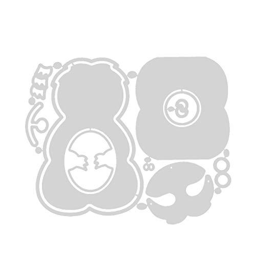 Qiman Ostern Faultier Box Metall Stanzformen Schablone, DIY Album Briefmarke Karte, Scrapbooking, Kartenherstellung, Papierhandwerk, Themeneinladungen, Albumdekoration, Fotorahmen
