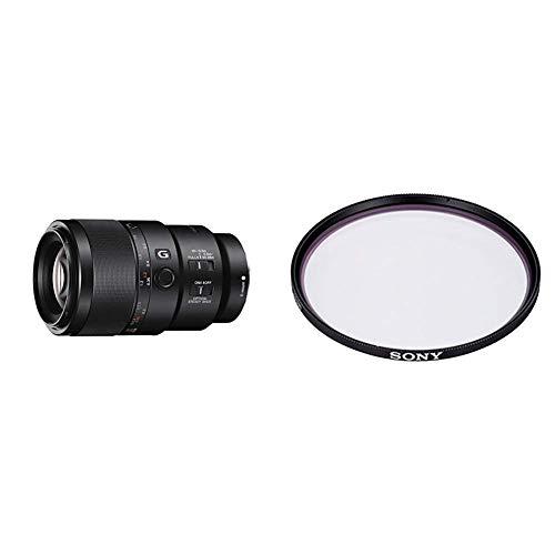 Sony SEL-90M28G G Makro Objektiv (Festbrennweite, 90 mm, F2.8, Vollformat) schwarz + Sony VF-62MPAM Carl Zeiss T MC-Schutzfilter