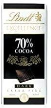 Lindt Excellence 70% Cocoa 100g - Pack of 6