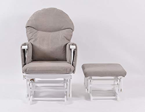 Habebe Glider Rocking Nursing Recliner Maternity Chair with footstool ***WASHABLE COVERS***