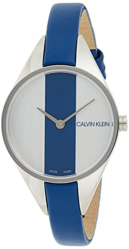 Calvin Klein Reloj Analógico para Mujer de Cuarzo con Correa en Cuero K8P231V6