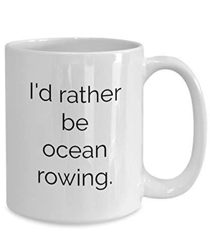Ocean roeien koffie mok varen zeilen kajak kano