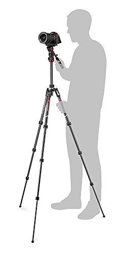 Manfrotto三脚Befreeliveカーボン4段ビデオ雲台T三脚キットブラック全伸高150cm最低高41cmミラーレス一眼運動会旅行ブイログMVKBFRTC-LIVE