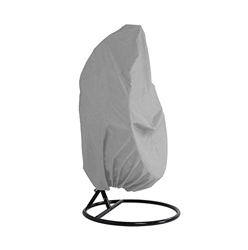Xinyanmy Patio Hanging Chair Cover Waterproof 210D Oxford Fabric with PVC Lining Swing Chair Cover Veranda Patio Single Egg Chair Cover with Storage Bag 190x115CM