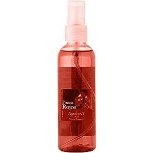 Ambientair Perfume de Hogar en Spray, Aroma Frutos Rojos, 100 ml, Cristal, Rojo, 5x3x12 cm