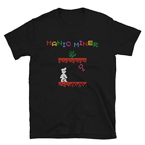 Manic MIner 8 Bit Gameplay T-shirt, Unisex S to 3XL