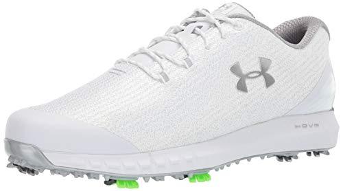 Under Armour Men's HOVR Drive Woven Golf Shoe, White (101)/Metallic Silver, 14 M US