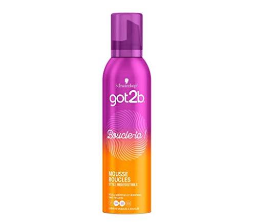 Schwarzkopf - Got2b - Mousse Coiffante Cheveux - Boucle-la - Aérosol 250 ml