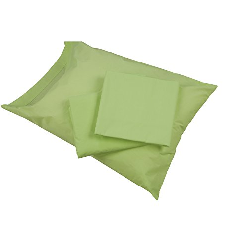 DMI Hospital Bed Sheets That Include Fitted Sheet, Top Sheet and Pillowcase Made of Cotton Polyester Blend, 132 Thread Count, Green