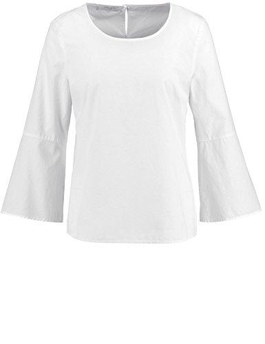 Gerry Weber Casual/Edition Bluse Tunika Bluse mit Volantärmel weiß/weiß 46