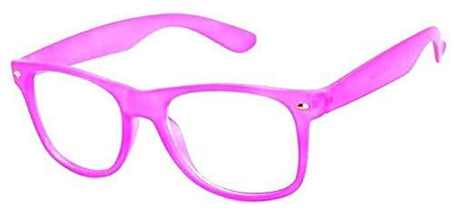 Boolavard Kids Nerd Brille Clear Lens Geek Fake Brillen für Mädchen Jungen Brillen Alter 4-12 (Baby Pink)