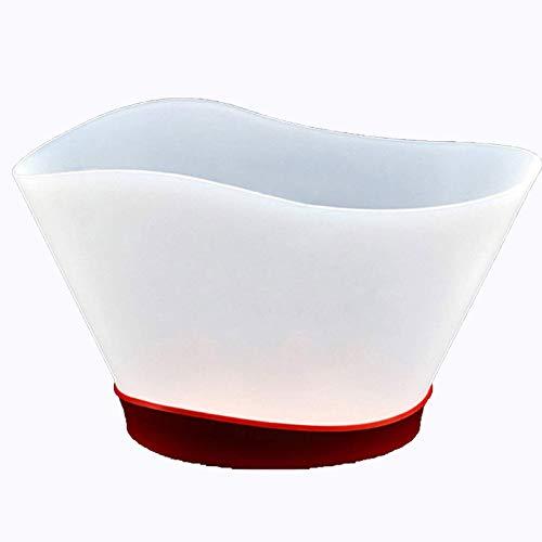 YYCHJU Cerveza Refrigerada Cubitera para Hielo Cubo de Bebidas LED de 12L de Alta Capacidad, Cubo de Hielo plástico Luminoso Degradado, Cubo refrigerador para la Boda de la casa de la Barra de KTV