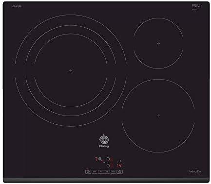Balay 3EB967FR - Placa de Inducción, 3 Zonas, 60cm, Función Sprint, 17 Niveles Cocción, Negro