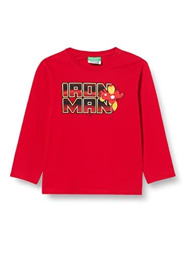 United Colors of Benetton T-Shirt M/L 3VR5C15E6 Camiseta, Rojo 015, 2 años para Niños