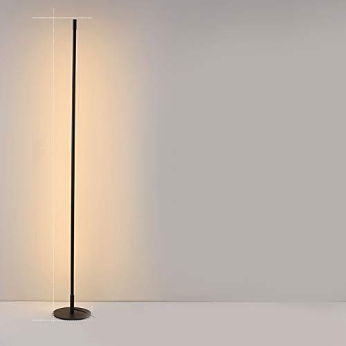 Koper Minimalistische Creative Slaapkamer Woonkamer Personality Sfeer Light LED Staande lamp Simple Creative Decoration (Color : Warm Light)