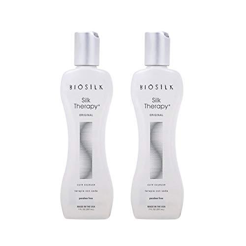 Biosilk Duo Silk Therapy Original Soyeuse Protéine de Soie Serum 207ml (lot de 2 X 207ml)
