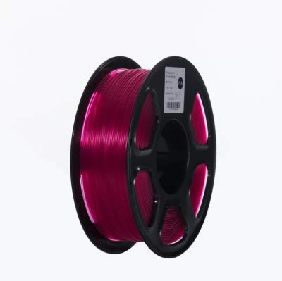 WANGYOUCAO 3D Printer PLA Filament 1.75mm for 3D Printers, 1kg(2.2lbs) +/- 0.02mm Transparent Purple Color 3D Printing Supplies (Color : Transparent Violet)