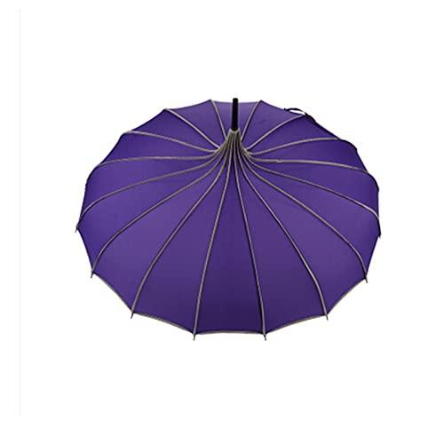Cherry blossoms Paraguas de mango largo, creativo, paraguas de lluvia o sombrilla, retro, pequeño regalo fresco (color: A)