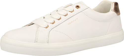 GANT Footwear Damen SEAVILLE Sneaker, Weiß (Br.Wht./Rose Gold G296), 38 EU