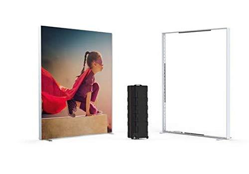 PrintGreen! Multiframe - mobile Messewand/Videokonferenz Rückwand- 2x2,5m - zerlegbar - bin Koffer - Pressewand - Fotohintergrund