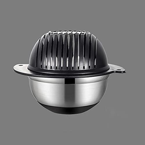 Salad cutter bowl,Vegetable salad chopper,Stainless steel 60 Seconds Salad Maker Vegetable Cutter Bowl,Home kitchen slicer drain basket
